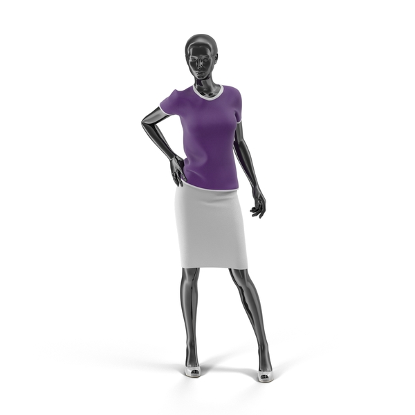 Showroom Mannequin With Skirt And Blouse Object