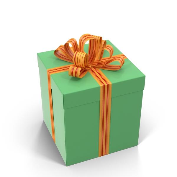 Green Gift Box Object