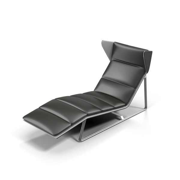 Esedra Romea Leather Lounge Chair Object