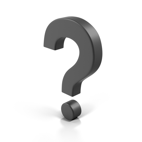 Question Mark Boxy Black Object