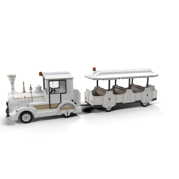 Touristic Toy Train Object