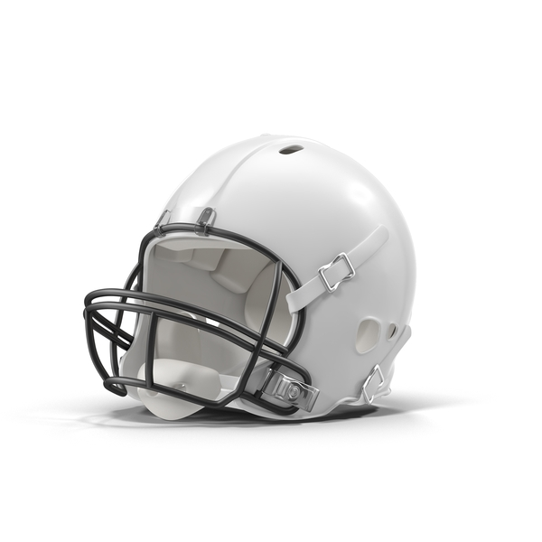 White Football Helmet Object