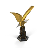 Golden Eagle Sculpture Object