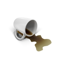 Spilled Coffee and Mug Object