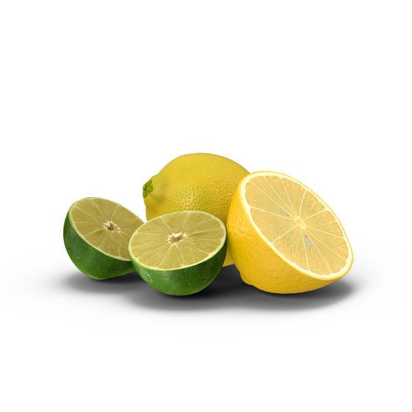 Lemon and Halved Lime  Object