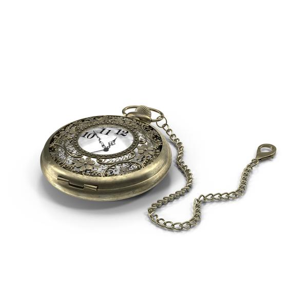 Filigree Pocket Watch Object
