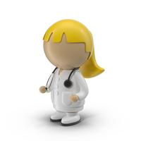 Cartoon Female Doctor Object