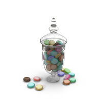 Jar with Macarons Object