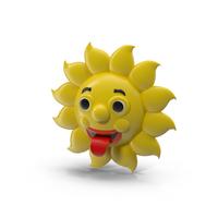 Cartoon Sun Character Object
