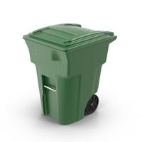 Green Trash Bin Object