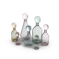 Glass Bottles Object