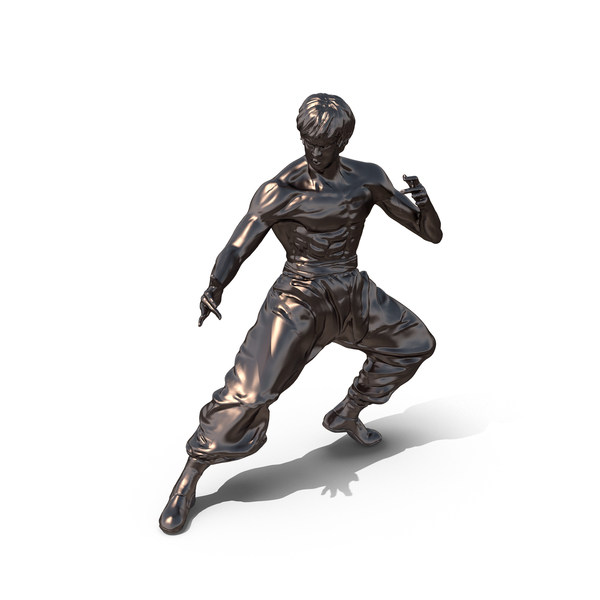 Brass Bruce Lee Statue Object