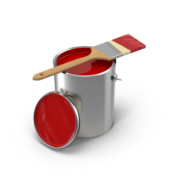 Paint Can and Brush Object