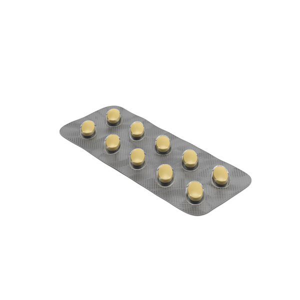 Oval Blister Pill Pack Object