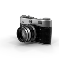 Vintage Film Camera Object