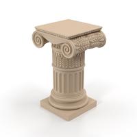 Ionic Column Pedestal Object