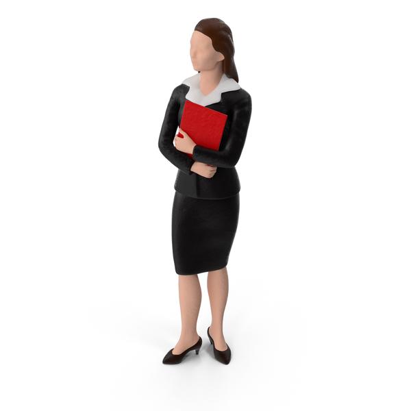 Miniature Business Woman Object