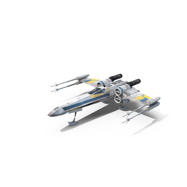 Blue X-Wing Starfighter Object