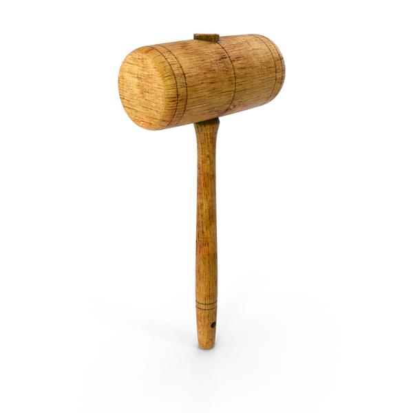 Vintage Wooden Mallet Object
