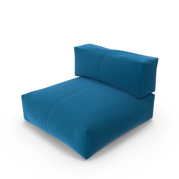 Blue Lounge Chair Object