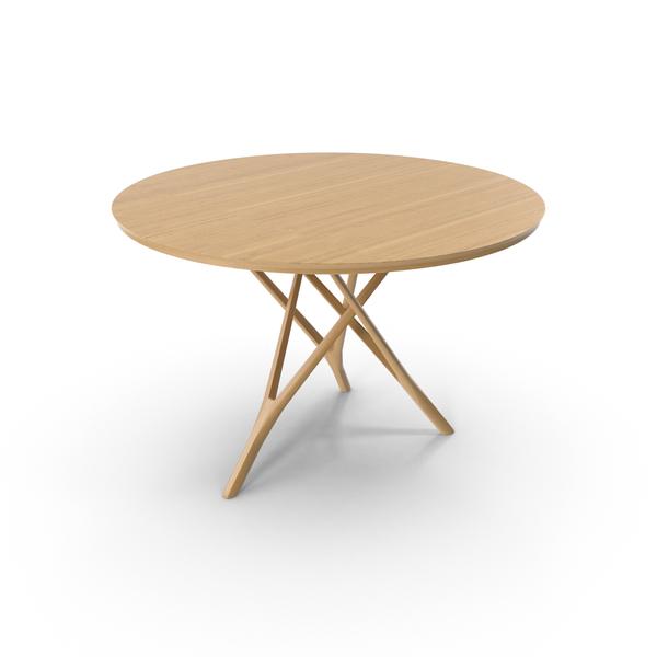 Wood Tripod Table Object