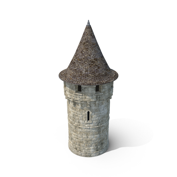 Round Turret with Roof Object