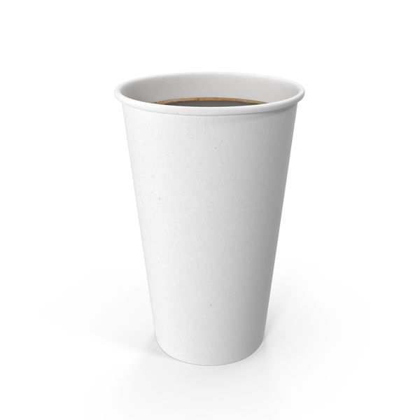 White To-Go Coffee Cup No Lid Object