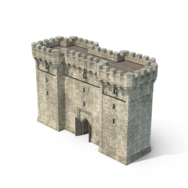 Gatehouse with Open Door Object