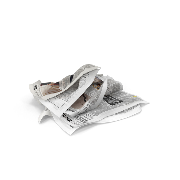 Newspaper Litter Object