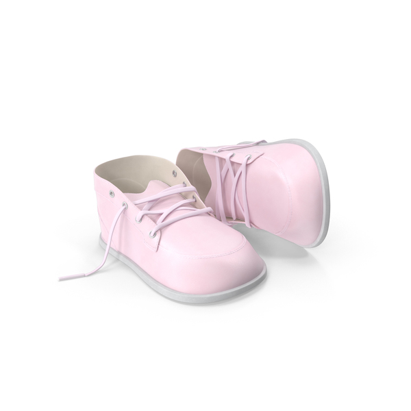Pink Baby Shoes Object