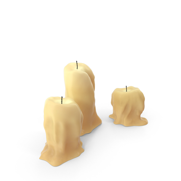 Medieval Table Candles Object