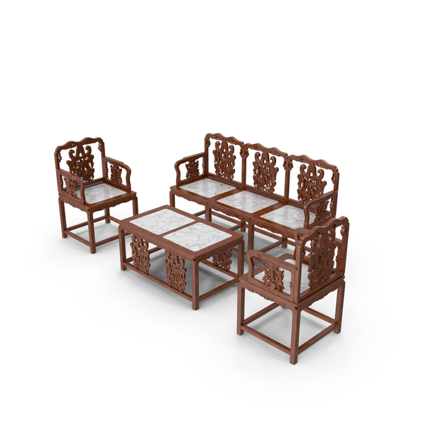 Oriental Furniture Set Object