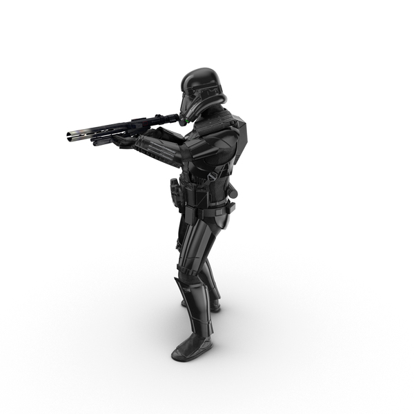 Imperial Death Trooper Shooting Pose Object