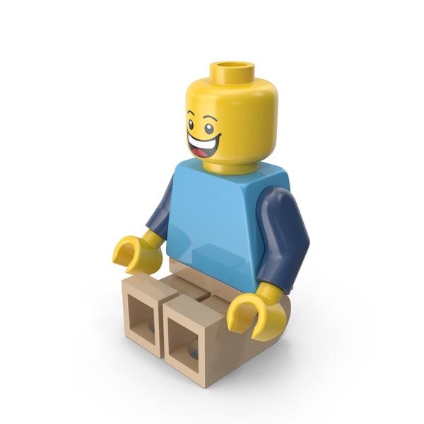 Lego Man Sitting Object