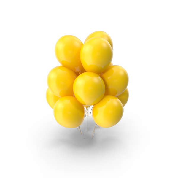 Yellow Balloons Object