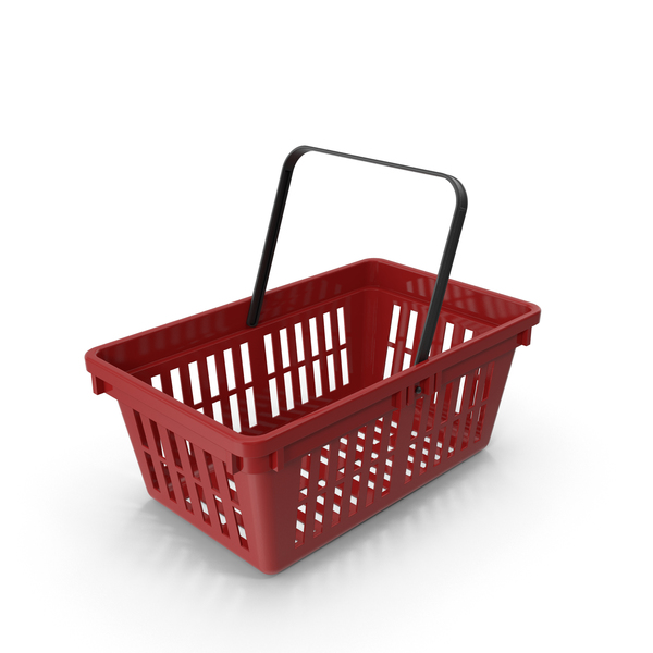 Red Plastic Basket Object