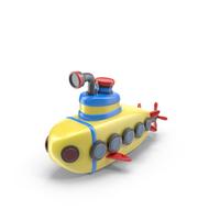 Cartoon Submarine Object