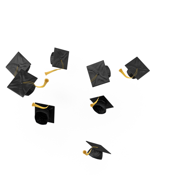 Graduation Mortarboard Cap Toss Object