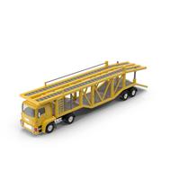 Cartoon Car Carrier Truck Object