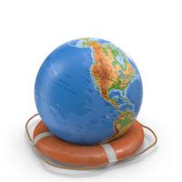 Lifesaver and Globe Shape Object